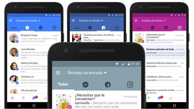 Una manera más fácil de administrar las interacciones y tus mensajes en Facebook, Instagram y Messenger
