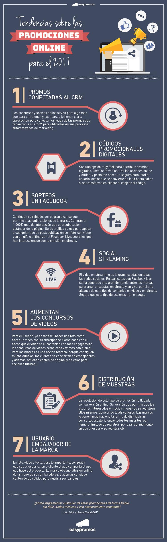 Infografía Como será el Marketing Promocional en 2017. Una previsión de las 7 principales tendencias en auge que liderarán el marketing promocional en 2017.