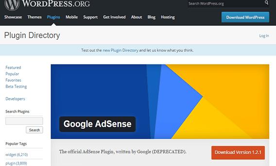El Plugin de AdSense ya no está disponible mayo