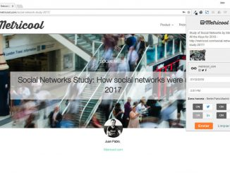 Extension Chrome de Metricool para redes sociales en Chrome store