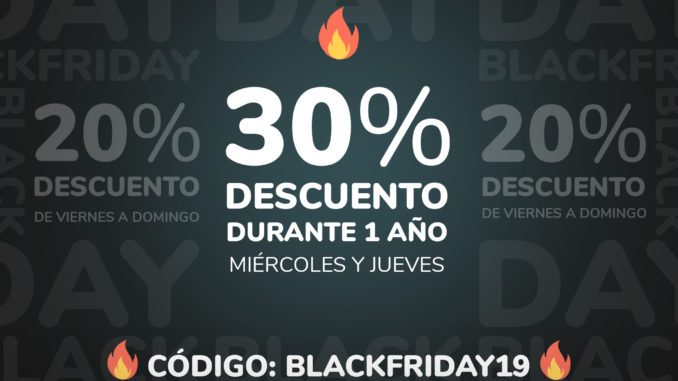 ¡30% DE DESCUENTO DURANTE UN AÑO SOLO HOY Y MAÑANA!