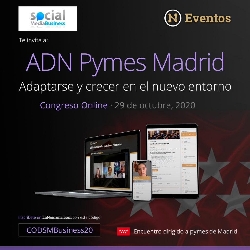 Primer congreso online gratuito de ADN PYMES MADRID